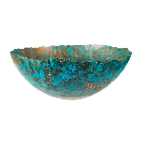Stephanie Hopkins Etched copper bowl 25