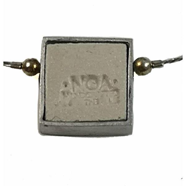 Small Square radiant centre necklace 122