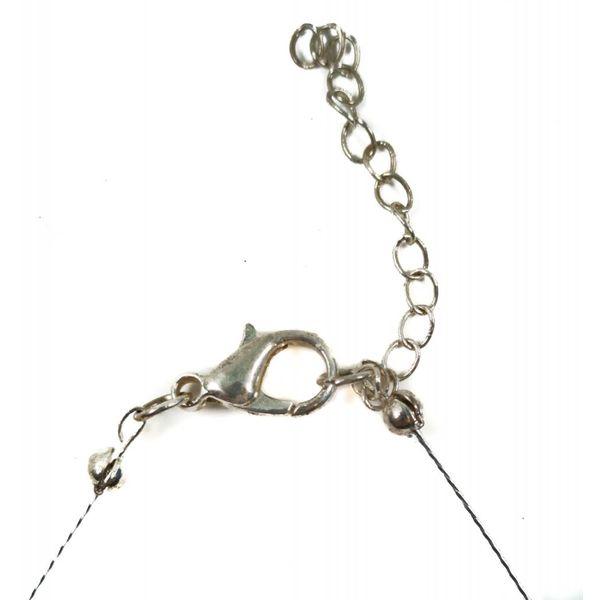 Necklace - semi circle dangly aluminium