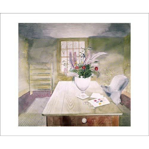 Art Angels Garden Flowers on a Cottage Table by Eric Ravilious