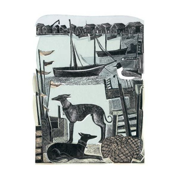 Harbour Whippets by Angela Harding