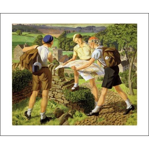Art Angels Hiking 1936 by James Wlaker Tucker