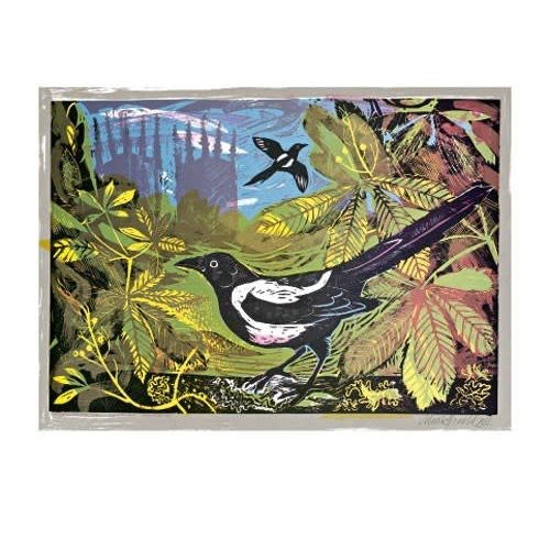 Art Angels Magpies and Minster by Mark Hearld