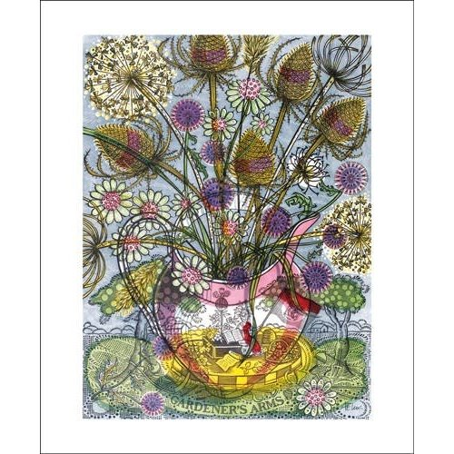 Art Angels The Gardener's Arms II by Angie Lewin