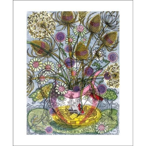 The Gardener's Arms II by Angie Lewin