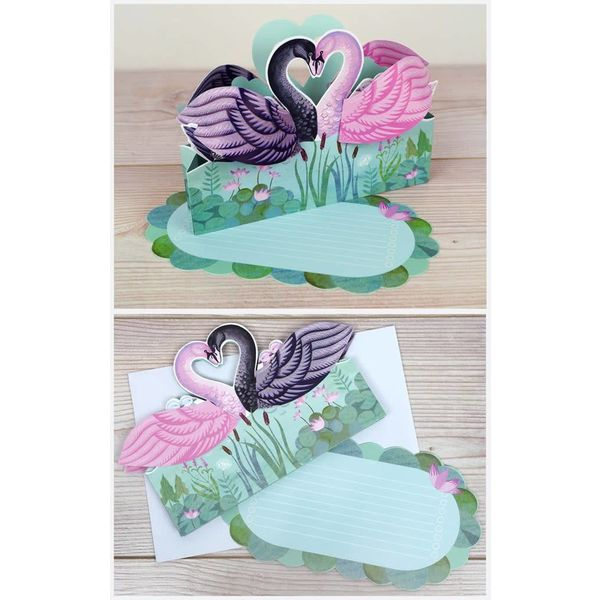 Two Swans 3D by Sarah Young