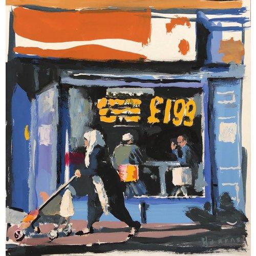 Martin Hearne Dixy Chicken, Study watercolour