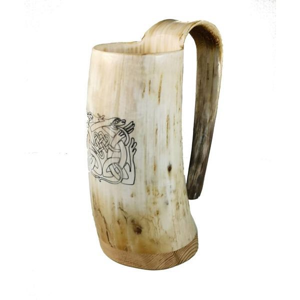 Drinking Mug oxhorn no.1 with celtic design