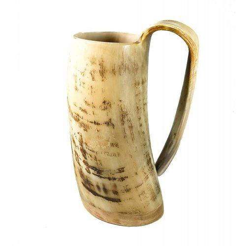 Abbey Horn Rustic Drinking Mug oxhorn no.4 tapered handle