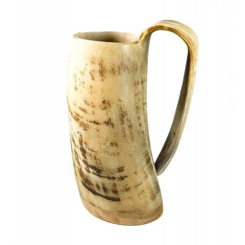 Abbey Horn Taza de beber rústica oxhorn no.4 mango cónico