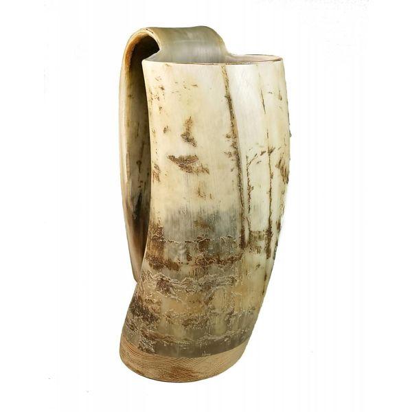 Rustikale Trinkbecher oxhorn no.4 konischen Griff
