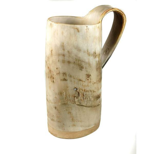 Taza de beber rústica oxhorn no.5 asa cónica