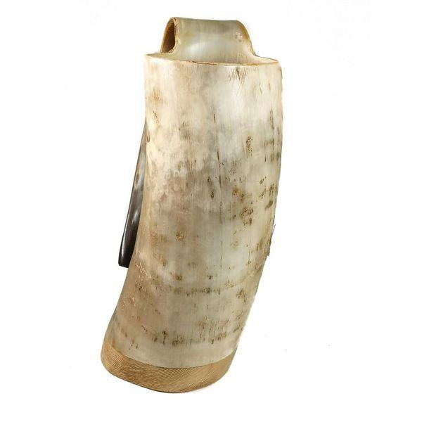 Rustikale Trinkbecher oxhorn no.5 konischen Griff