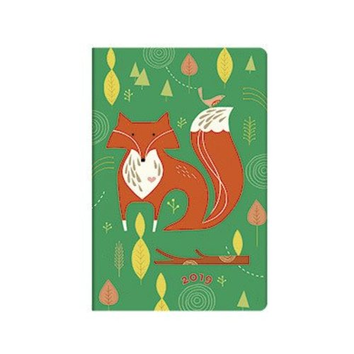 Paper Blanks 12 Month - Mister Fox (2019) Week to View - UK Holidays 95 X 140 mm (Mini), 160p. Strap