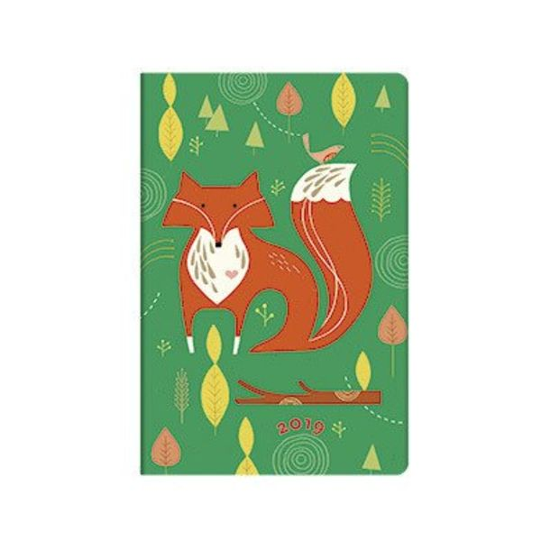 12 Month - Mister Fox (2019) Week to View - UK Holidays 95 X 140 mm (Mini), 160p. Strap