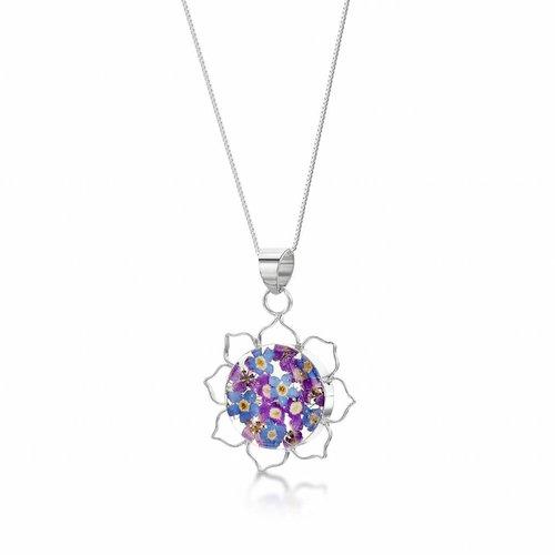 Shrieking Violet Lotus purple haze pendant silver