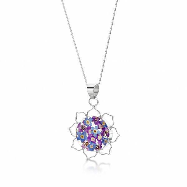 Lotus purple haze pendant silver