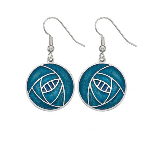 Sea Gems Mackintosh Rose Round earrings Turquoise