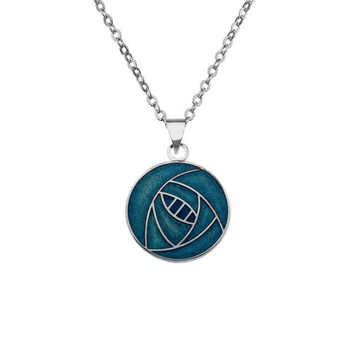 Sea Gems Mackintosh Rose Round necklace Turquoise