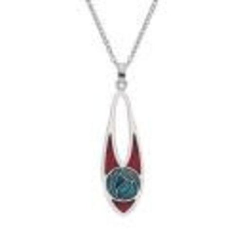 Sea Gems Mackintosh Rose Slim Teardrop Necklace