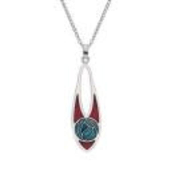 Mackintosh Rose Slim Teardrop Necklace