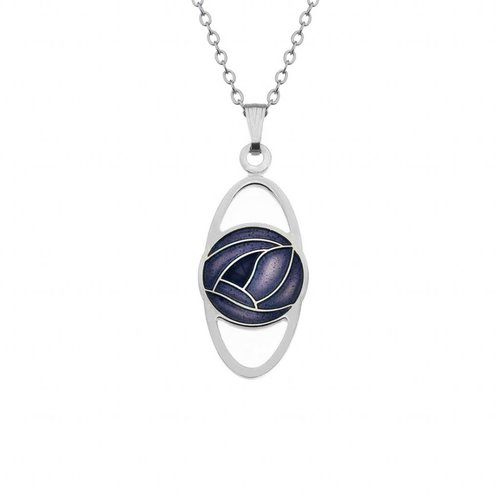Sea Gems Mackintosh Rose Oval necklace purple