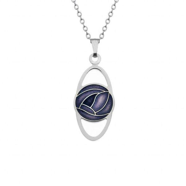 Mackintosh Rose Oval necklace purple