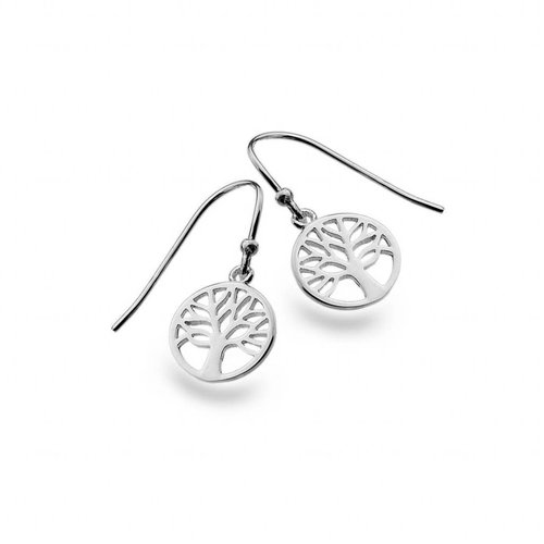 Sea Gems Tree of life silver earrings