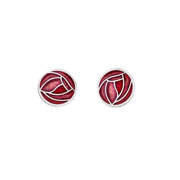 Mackintosh Rose stud  earings red