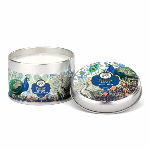 Michel Design Works Peacock Travel Candle Tin