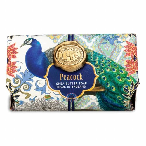 Michel Design Works Peacock Large Bath Shea Soap Bar