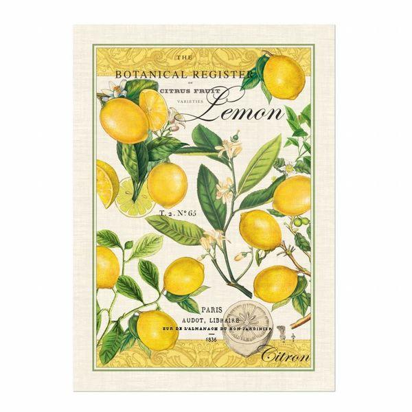 Zitronen-Basilikum-Geschirrtuch