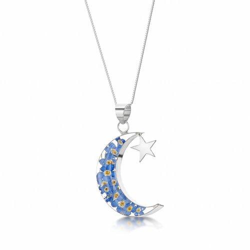 Shrieking Violet Mond und Stern Vergissmeinnicht Anhänger Silber