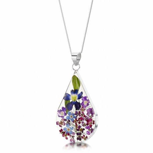 Shrieking Violet Teardrop großer lila Dunstanhänger Silber