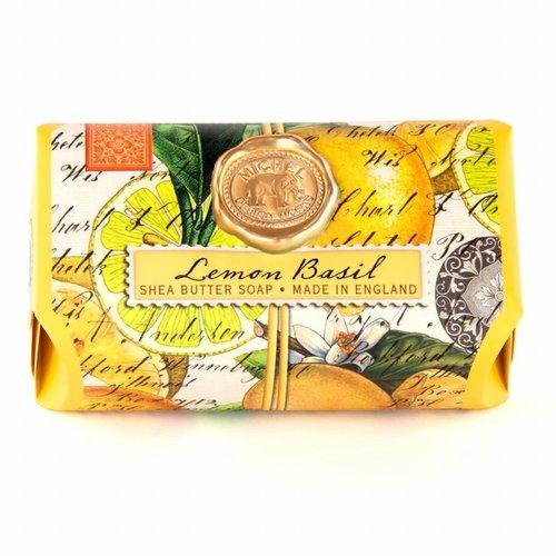 Michel Design Works Albahaca de limón, baño grande, jabón de karité, barra