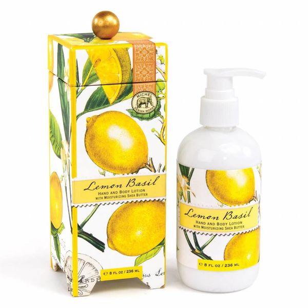 Loción de manos y cuerpo de limón albahaca 236ml