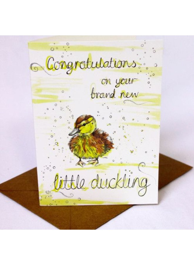 Congratulations on Little Duckling card 5 x 10 cm