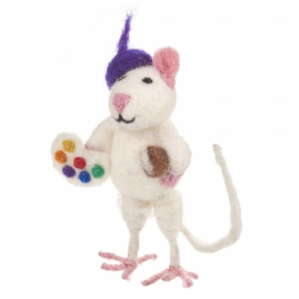 Felt Artistic Mouse Ornament