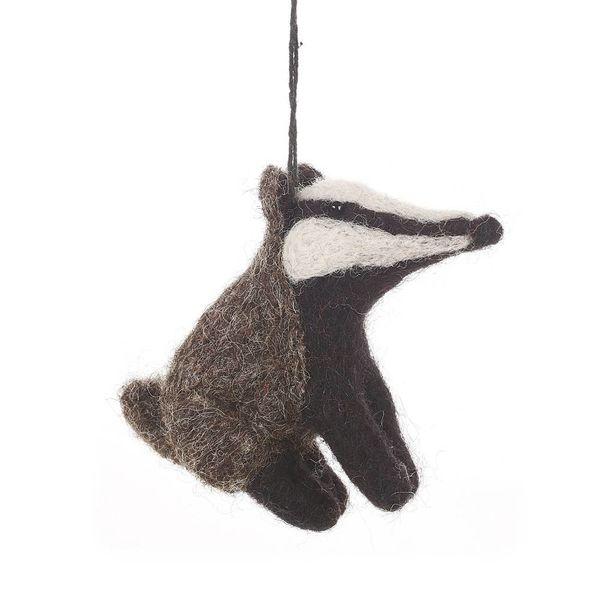 Felt Bertie Badger Ornament
