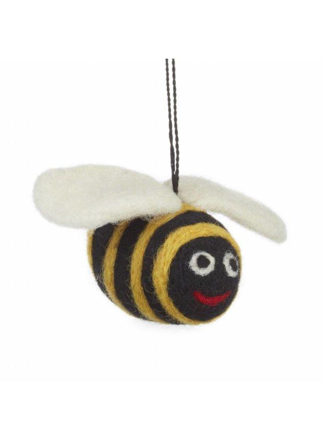 Felt Big Bumble Bee Ornament