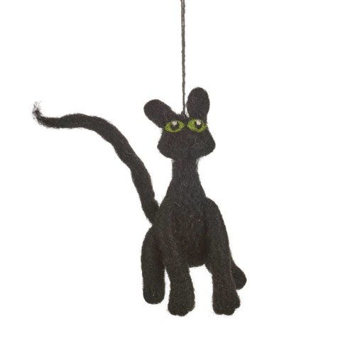 Felt So Good Felt Black Cat Ornament