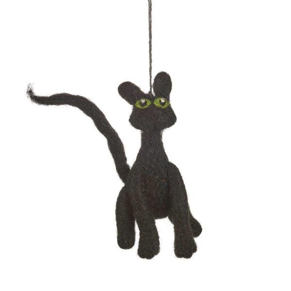 Felt Black Cat Ornament