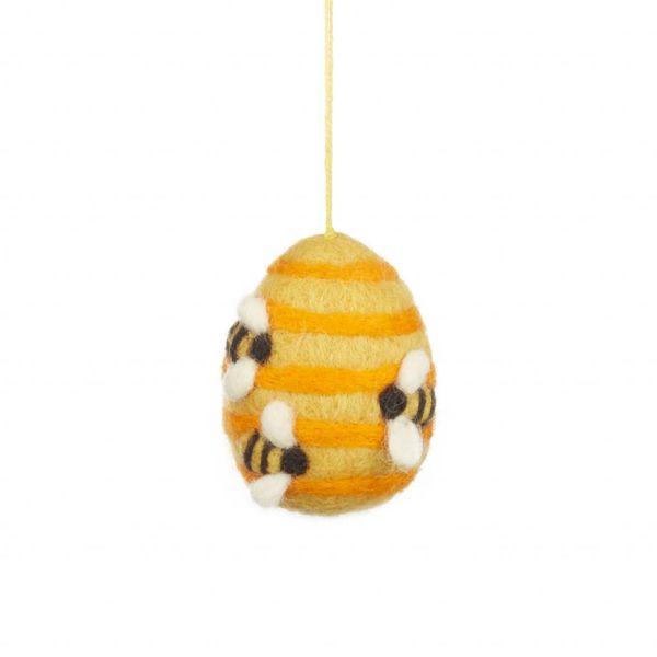Felt Busy Beehive Ornament