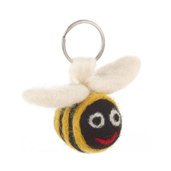 Felt Flying Bee Key Ring