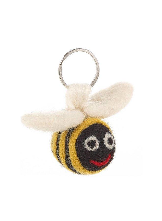 Felt Flying Bee Key Ring