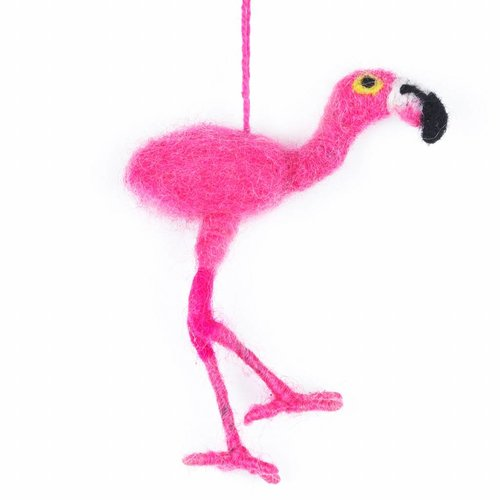 Felt So Good Felt Pink Flamingo Ornament