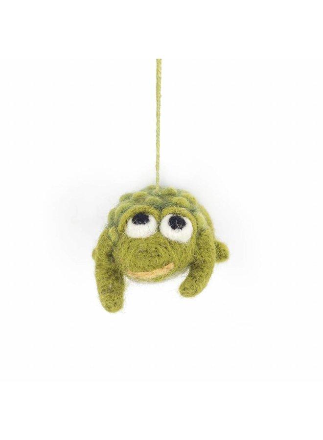 Felt Toad Ornament