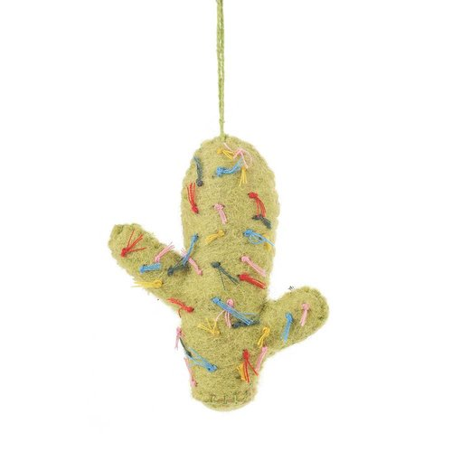 Felt So Good Felt Totem Pole Lime Cactus Ornament