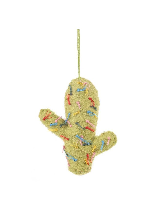 Felt Totem Pole Lime Cactus Ornament