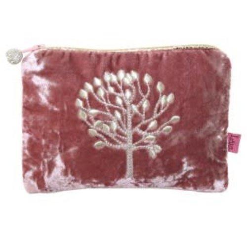 LUA Mulberry Tree Samt Applique Handtasche